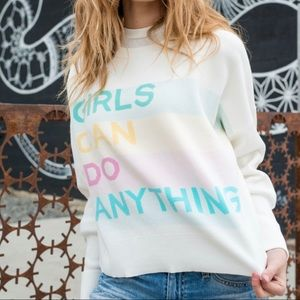 "Zadig et Voltaire ""Girls Can Do Anything"" sweater"